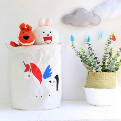 Container - Tas - Wasmand - Unicorn - Speelgoed mand (Z84)